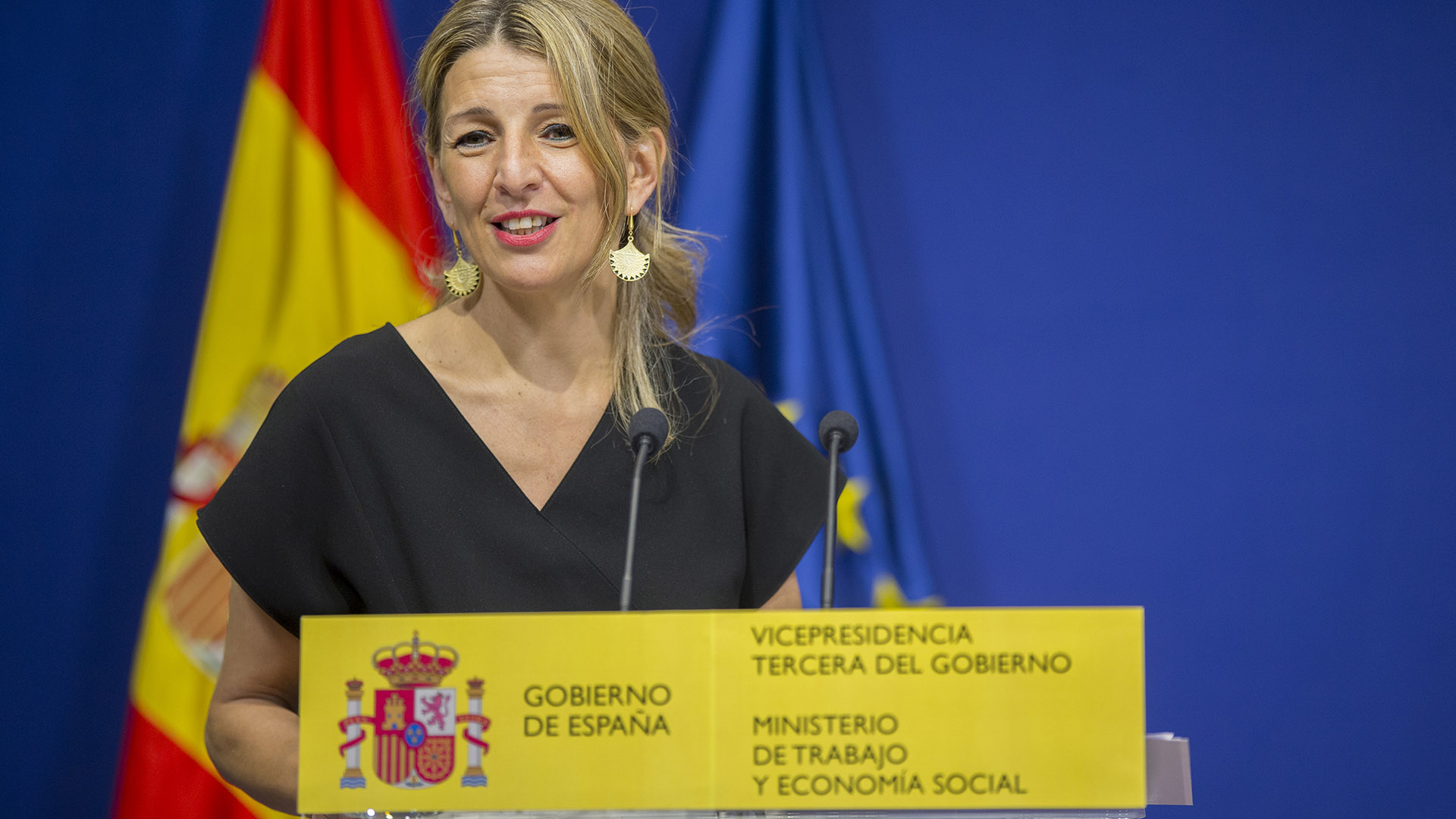 Ministra de trabajo y vicepresidenta tercera, Yolanda Diaz.