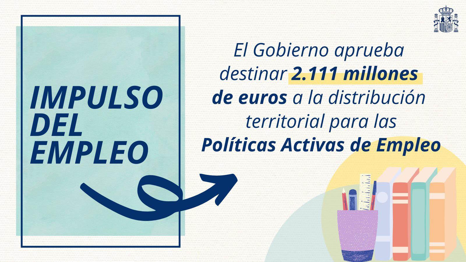 Plan impulso del empleo Gobierno de España